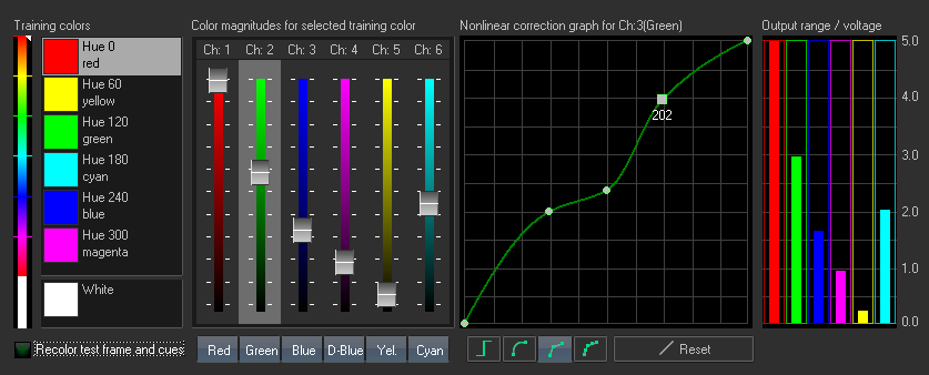 BEYOND Advanced Diode Color Settings